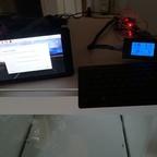 Zwischenschritt-Foto.. Power und Raspberry und Raspberry-Expansion Board plus Relais. Alles mit Verbrauchsmessung :)